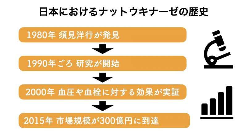 日本におけるナットウキナーゼの市場